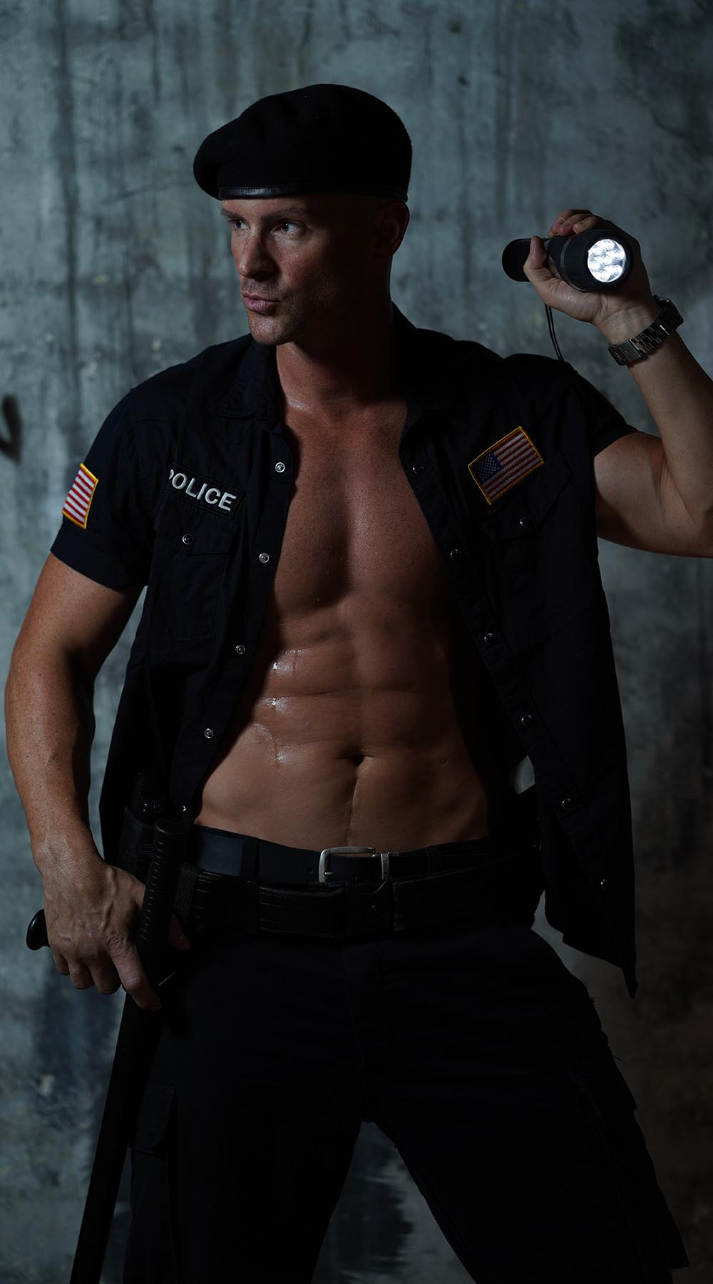 Stripper CHRIS aus Wien als Police Officer